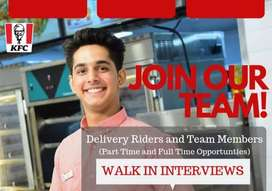 Team members and Delivery riders and Dish washer