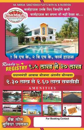NIT RL ready to registry farmhouses & land only 14km frm  nagpur 7