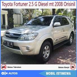 Toyota Fortuner 2.5 G Diesel mt 2008 Orisinil antik