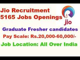 Golden chance Reliance Jio LTD. Hiring Freshers and experience candida