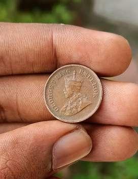 British india coins Half pice
