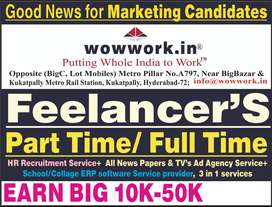 GOOD NEWS TO MARKETING STAFF PART/FULL TIME EARN 10K-50K@HOME WORK