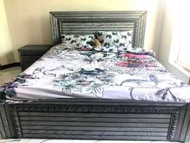 Queen size Bed with Dressing Table and Side Tables