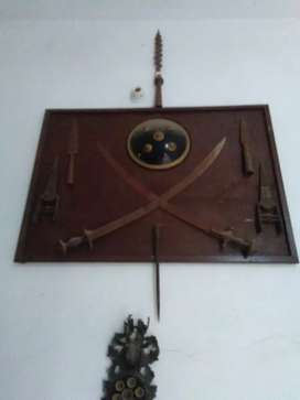 Antique  old sword shield
