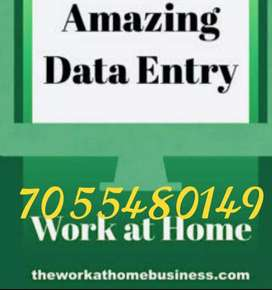 Home based online job data typing