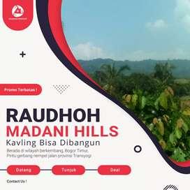 Jual Cepat Tanah Kavling  Pinggir Jalan, Raudhoh Madani Hills Bogor