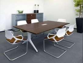 Meja Meeting Kekinian Keren Untuk Kantor dengan Finishing HPL