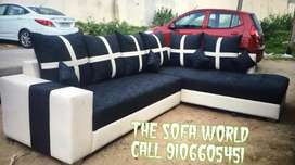 New longer white black sectional strong quality sofa available