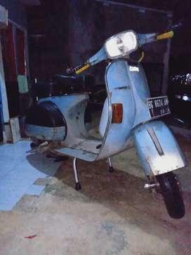 Jual Vespa ps serra th 86 cat ma asli surat lengkap mesin standar