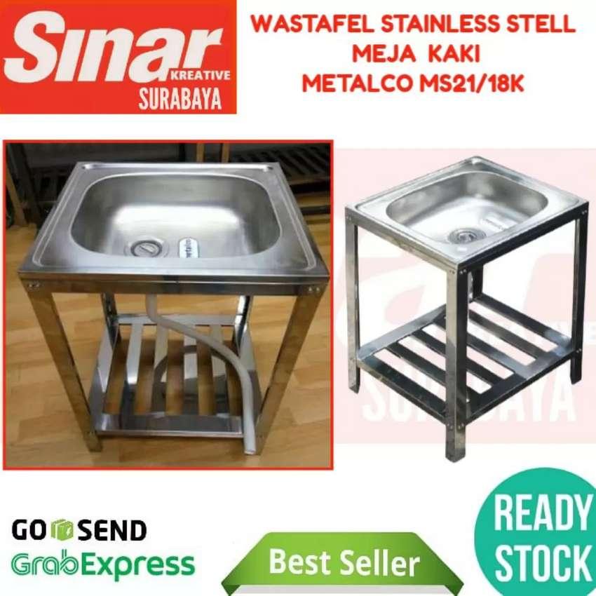 WASTAFEL PORTABLE STAINLESS STEEL METALCO MS21-18K - WASHTAFEL MEJA 0