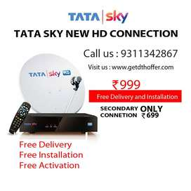 Tata Sky Hd Box New Connection get today