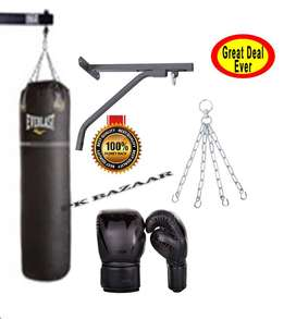 3ft EverLast Boxing Bag 2 Gloves + Chain + Wall Bracket with All Srews