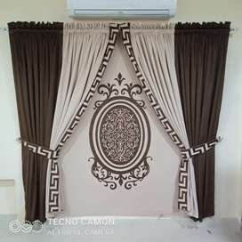 Curtains and wall pictures with luxury collection