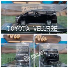 Diecast Miniatur Toyota Vellfire hitam skala