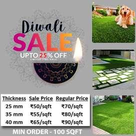 Diwali Sale -Artificial Grass for your Balcony, Backyard & Garden