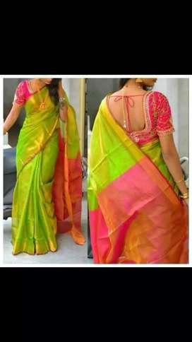 100% linen by linen saree bhagalpuri