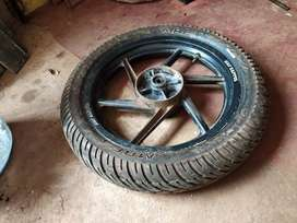 Pulsar 180 alloy wheels front and back