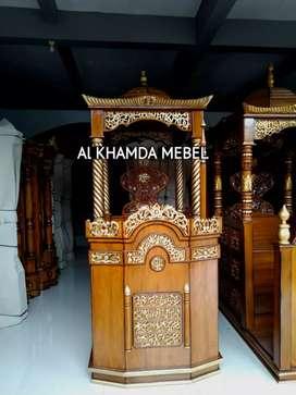 Terima Pesanan Mimbar Masjid Material Kayu Jati Berkualitas B45