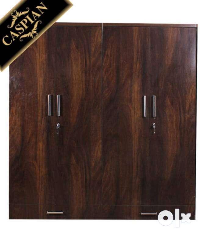 Caspian Furniture :- New 4 door Junglewood Texture Wardrobe