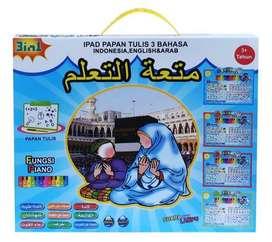 Ipad Papan Tulis 3 Bahasa / Mainan Anak Playpad + Piano