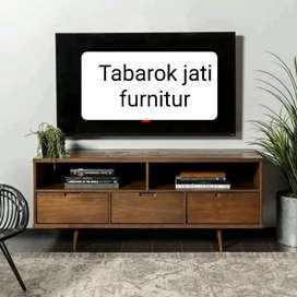 Meja tv retro moderen mewah elegan, P.150cm, kayu jati tua asli
