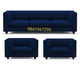 Box type sofa 3 + 1 + 1