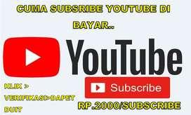 cuma subscribe youtube di bayar 2000