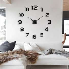 3D Giant Clock Jam Dinding Tempel Besar DIY Dekorasi 80-130cm 02BB