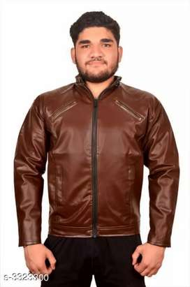 Trendy Men's PU Leather Jacket Fabric: PU Leather