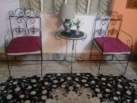New new design iron 4 seater sofa set with table and side corner.