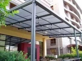 Kanopi atap bening transfaran polycarbonat,solartuuf,solarflat,kaca