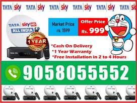Happy India Offer! Tata sky HD With 6 Month Free Tatasky Airtel DishTV