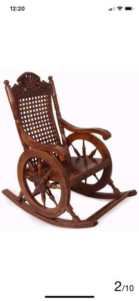 Rocking chair sheesham wood