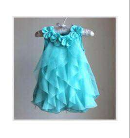 Dress Gaun Model Princess Baju Bayi Baby Biru Blue Ukuran M