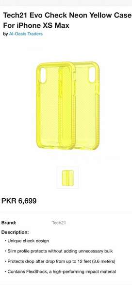 IPHONE XS MAX (TECH 21) YELLOW CASE