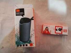 Bluetooth speaker with free headphones