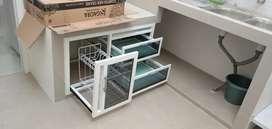 Kitchenset minimalis/aluminium & kaca