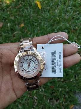 Coach New York Rose Gold jam tangan wanita original