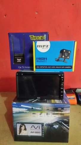 Paket: Double din tv fitur komplit+Antena tv+Camera+psang