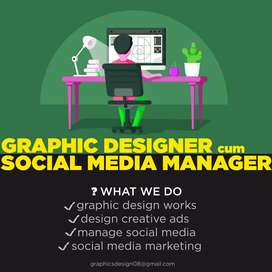 We Provide Experienced Graphic Designer cum Social Media Manager