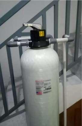Filter air sumur kotor keruh kuning bau jadi jernih-ganti media filter