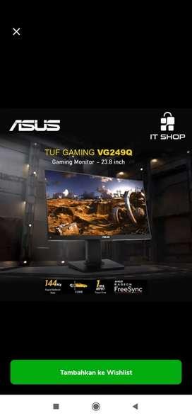 Monitor Gaming premium Asus VG249Q ajibbb garansi resmi 3 tahun panel