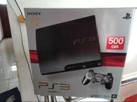 PS 3 Slim Hardisk 500 GB Lkp 50 Game paling ok 2 Stik mulus