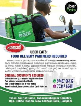 food delivery parners required for uber