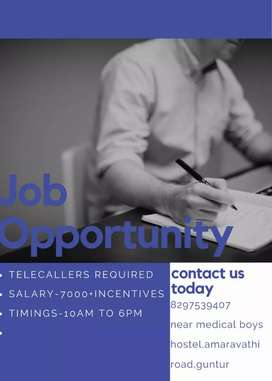 Female telecallers required to work in call center in Amaravati road