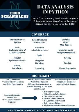 Python & Data Analysis Training-TechScramblers
