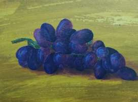Painting acrylic grapes