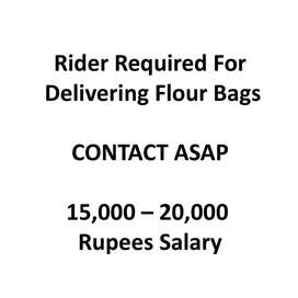 Rider For Delivery of Flour Bags