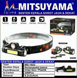 Senter Kepala Mitsuyama MS-1922 Sorot Jauh Dekat High Power Headlamp