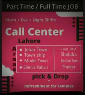 Call center jobs for males and females in Lahore
